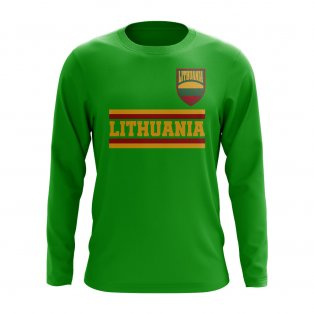 Lithuania Core Football Country Long Sleeve T-Shirt (Green)