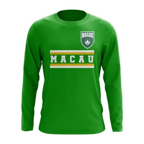 Macau Core Football Country Long Sleeve T-Shirt (Green)