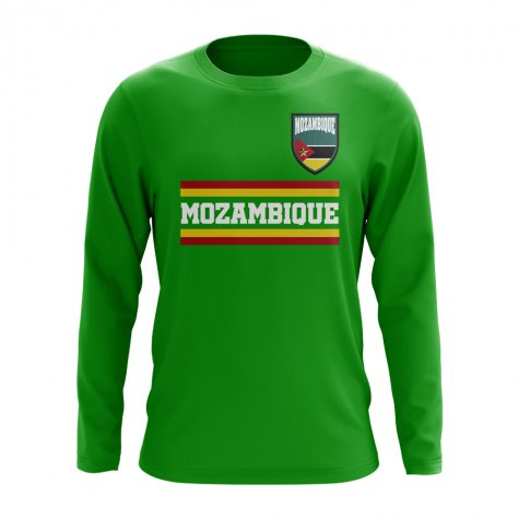 Mozambique Core Football Country Long Sleeve T-Shirt (Green)