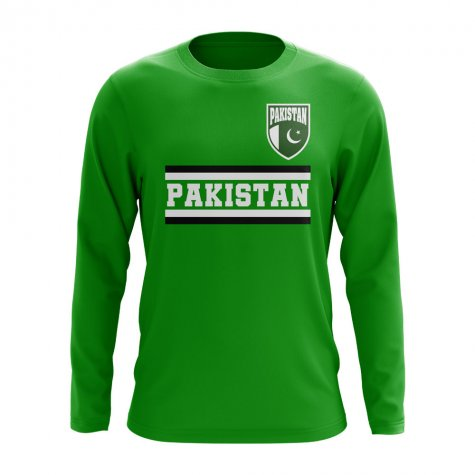 Pakistan Core Football Country Long Sleeve T-Shirt (Green)
