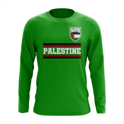 Palestine Core Football Country Long Sleeve T-Shirt (Green)