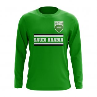 Saudi Arabia Core Football Country Long Sleeve T-Shirt (Green)