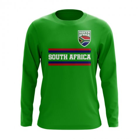 South Africa Core Football Country Long Sleeve T-Shirt (Green)