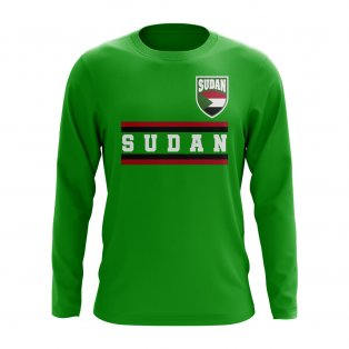 Sudan Core Football Country Long Sleeve T-Shirt (Green)