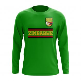 Zimbabwe Core Football Country Long Sleeve T-Shirt (Green)