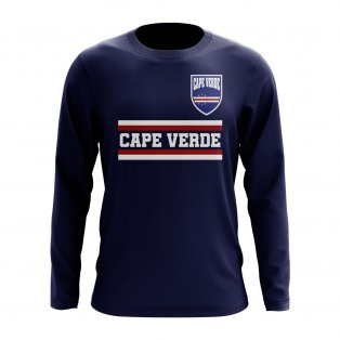 Cape Verde Core Football Country Long Sleeve T-Shirt (Navy)