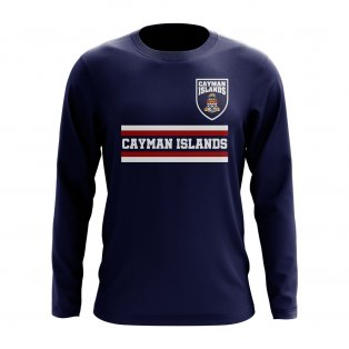 Cayman Islands Core Football Country Long Sleeve T-Shirt (Navy)