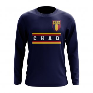 Chad Core Football Country Long Sleeve T-Shirt (Navy)