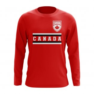Canada Core Football Country Long Sleeve T-Shirt (Red)