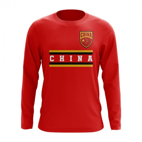 China Core Football Country Long Sleeve T-Shirt (Red)
