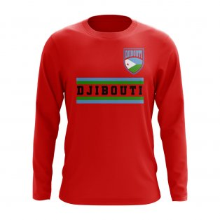 Djbouti Core Football Country Long Sleeve T-Shirt (Red)