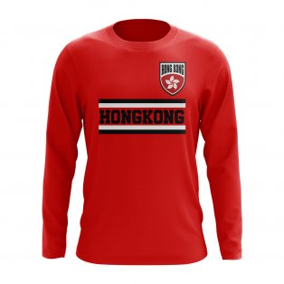 Hong Kong Core Football Country Long Sleeve T-Shirt (Red)