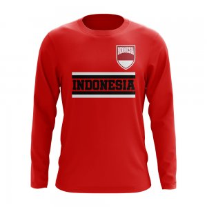 Indonesia Core Football Country Long Sleeve T-Shirt (Red)