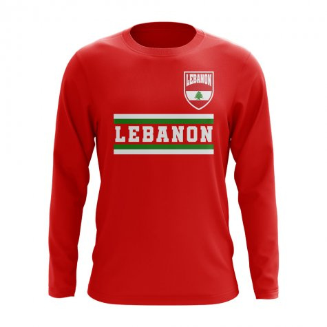 Lebanon Core Football Country Long Sleeve T-Shirt (Red)
