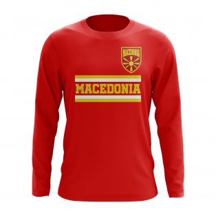 Macedonia Core Football Country Long Sleeve T-Shirt (Red)
