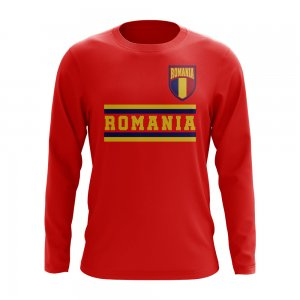 Romania Core Football Country Long Sleeve T-Shirt (Red)