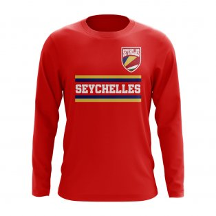 Seychelles Core Football Country Long Sleeve T-Shirt (Red)