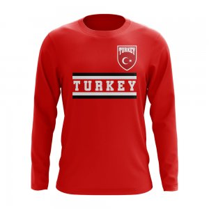 Turkey Core Football Country Long Sleeve T-Shirt (Red)