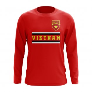 Vietnam Core Football Country Long Sleeve T-Shirt (Red)