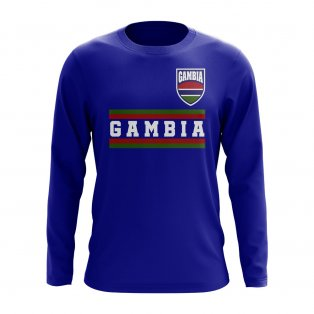 Gambia Core Football Country Long Sleeve T-Shirt (Royal)