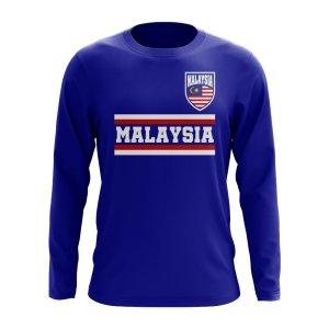 Malaysia Core Football Country Long Sleeve T-Shirt (Royal)