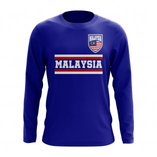 Malaysia Core Football Country Long Sleeve T-Shirt (Royal)