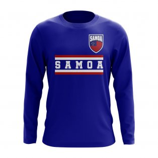 Samoa Core Football Country Long Sleeve T-Shirt (Royal)