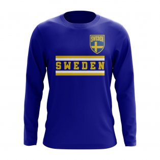 Sweden Core Football Country Long Sleeve T-Shirt (Royal)