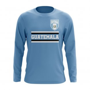 Guatemala Core Football Country Long Sleeve T-Shirt (Sky)