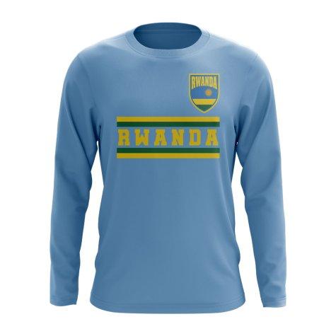 Rwanda Core Football Country Long Sleeve T-Shirt (Sky)