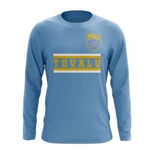 Tuvalu Core Football Country Long Sleeve T-Shirt (Sky)