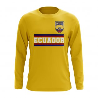 Ecuador Core Football Country Long Sleeve T-Shirt (Yellow)