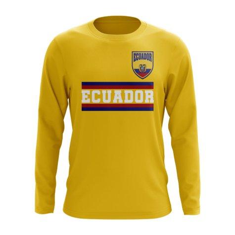 Ecuador Core Football Country Long Sleeve T-Shirt (Yellow)