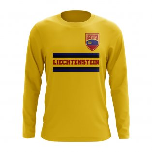 Liechtenstein Core Football Country Long Sleeve T-Shirt (Yellow)