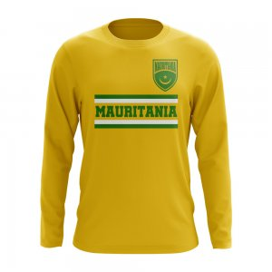 Mauritania Core Football Country Long Sleeve T-Shirt (Yellow)