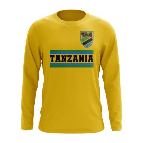 Tanzania Core Football Country Long Sleeve T-Shirt (Yellow)