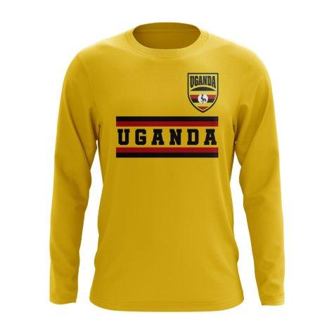 Uganda Core Football Country Long Sleeve T-Shirt (Yellow)