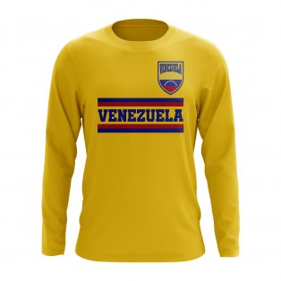 Venezuela Core Football Country Long Sleeve T-Shirt (Yellow)