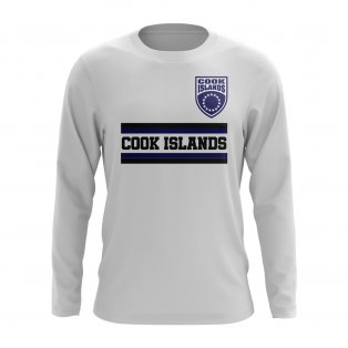 Cook Islands Core Football Country Long Sleeve T-Shirt (White)