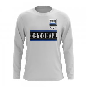 Estonia Core Football Country Long Sleeve T-Shirt (White)