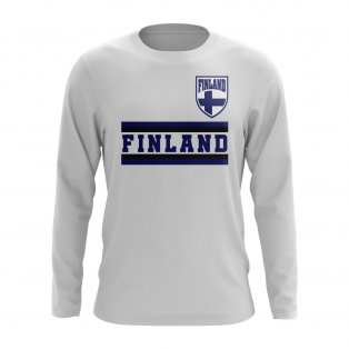 Finland Core Football Country Long Sleeve T-Shirt (White)