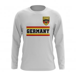 Germany Core Football Country Long Sleeve T-Shirt (White)