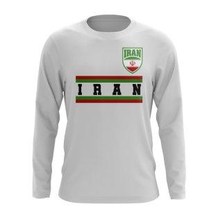 Iran Core Football Country Long Sleeve T-Shirt (White)