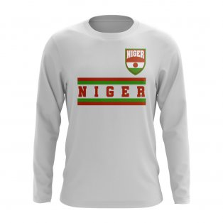 Niger Core Football Country Long Sleeve T-Shirt (White)