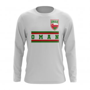 Oman Core Football Country Long Sleeve T-Shirt (White)