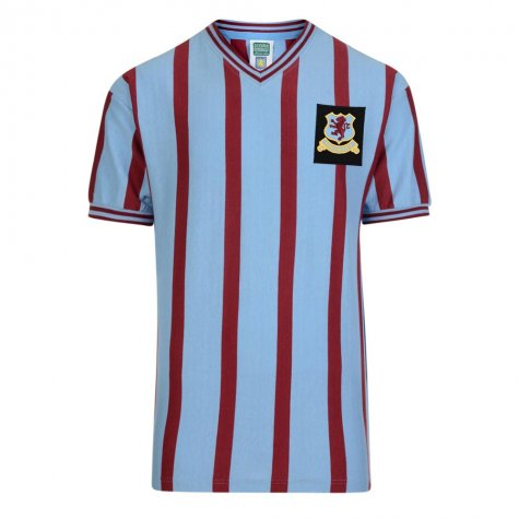 Score Draw Aston Villa 1957 FA Cup Final Retro Football Shirt