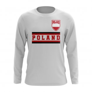 Poland Core Football Country Long Sleeve T-Shirt (White)