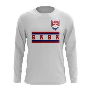 Saba Core Football Country Long Sleeve T-Shirt (White)