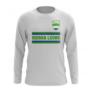 Sierra Leone Core Football Country Long Sleeve T-Shirt (White)
