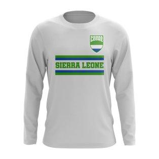 Sierra Leone Core Football Country Long Sleeve T-Shirt (White)